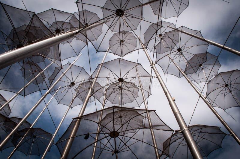 Parapluies en métal photo stock