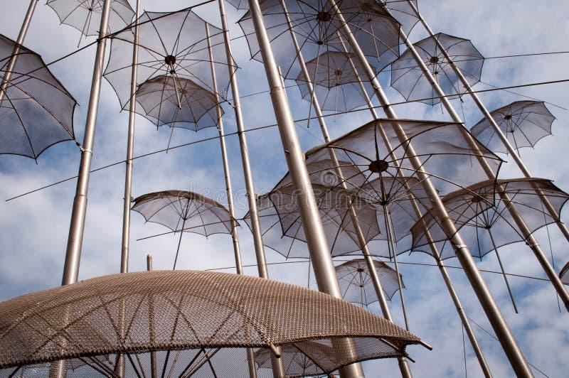 Parapluies en métal images stock
