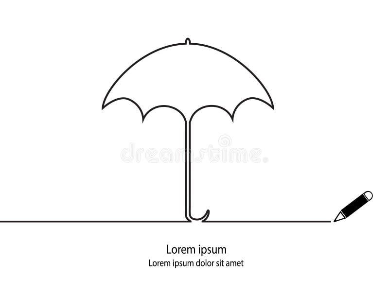 Paraplyöversikt royaltyfri illustrationer