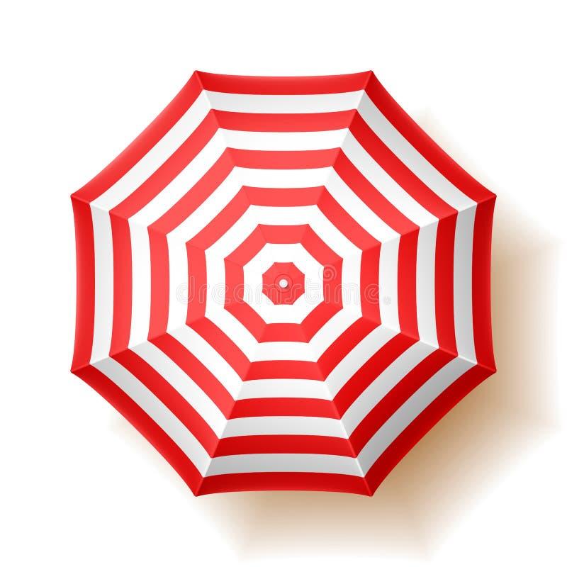paraply för strandbegreppsferie vektor illustrationer