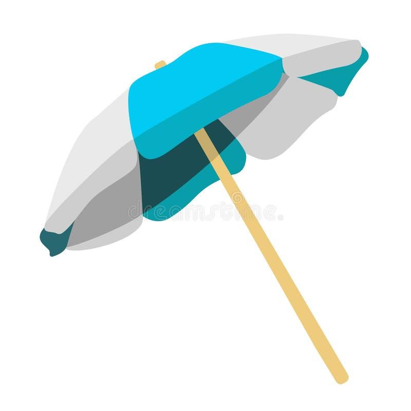 paraply för strandbegreppsferie royaltyfri illustrationer