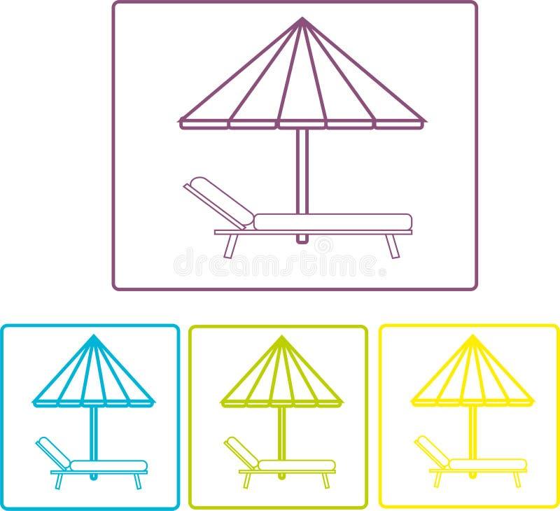 paraply för strandbegreppsferie semester Strand royaltyfria bilder