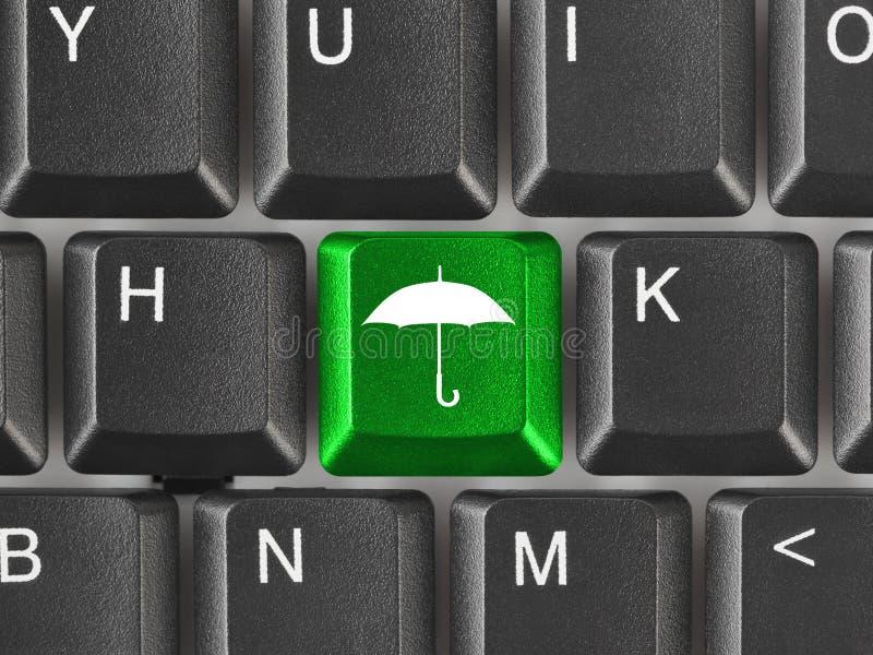 paraply för tangentbord för datortangent arkivbilder