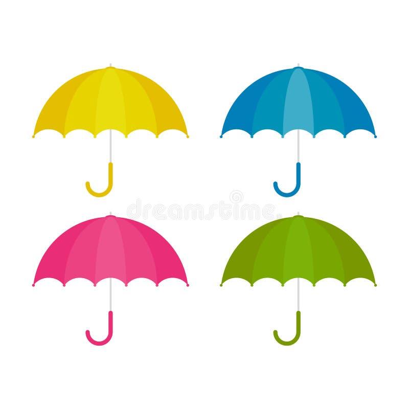 Paraply i tecknad filmstil f?r design stock illustrationer