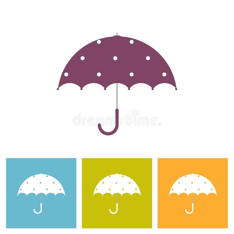 Paraply med den dekorativa best?ndsdelpricken stock illustrationer