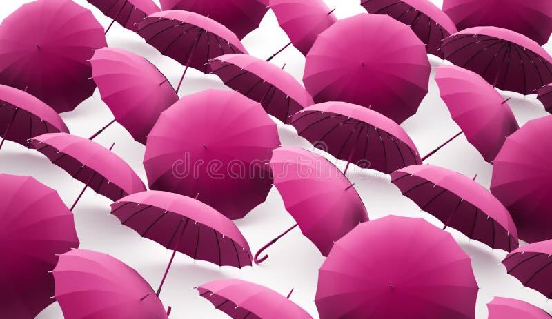 Paraplybegrepp vektor illustrationer