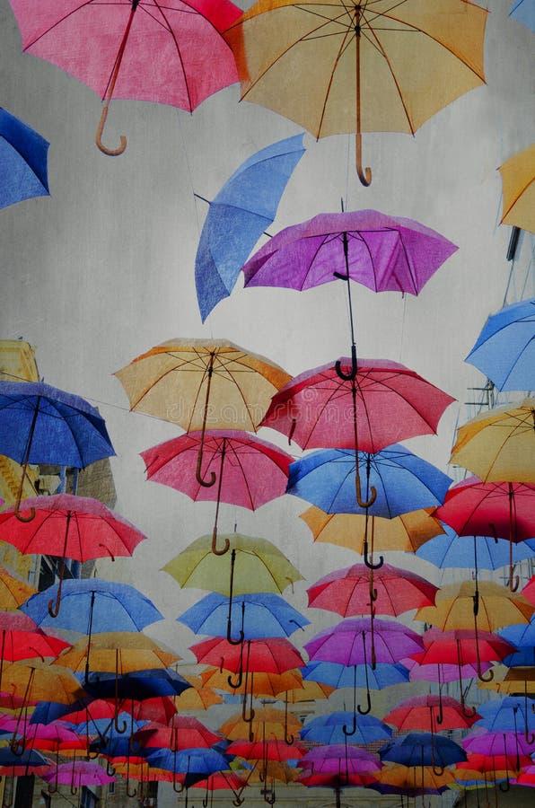Paraplyer fotografering för bildbyråer