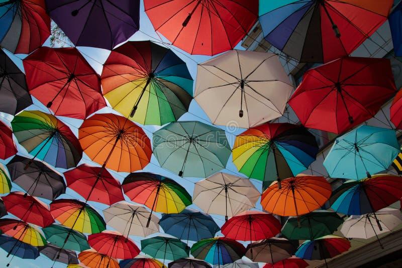 paraplyer royaltyfri foto