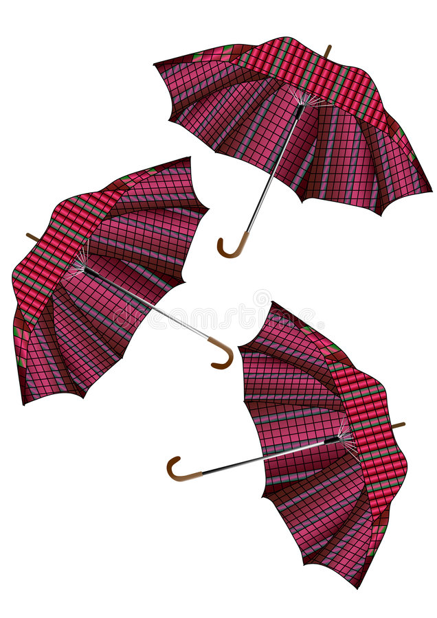 paraplyer royaltyfri illustrationer