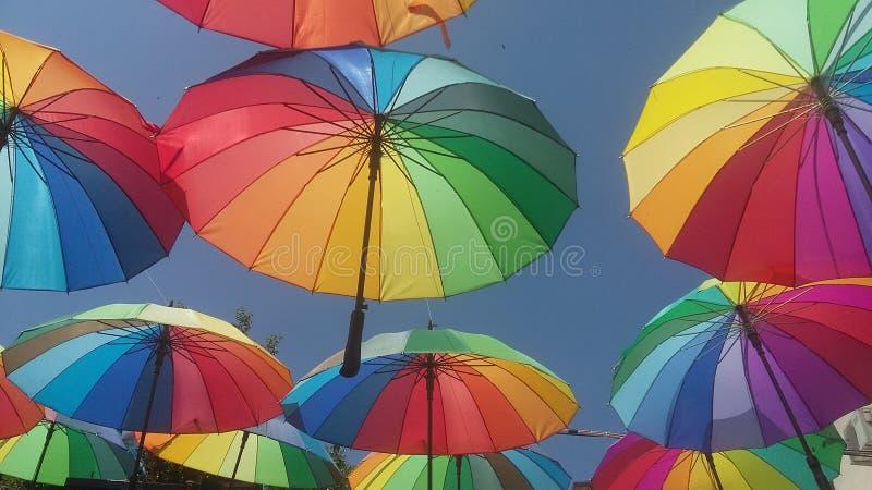 paraplyer royaltyfria bilder