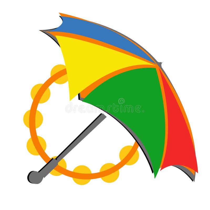 ParaplykarnevalLOGO royaltyfri illustrationer
