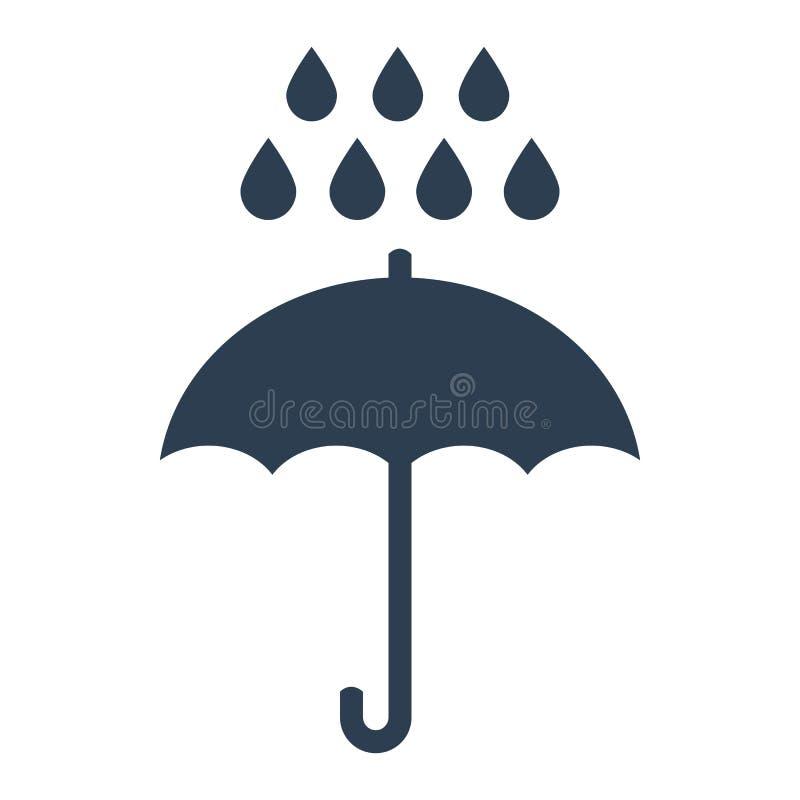 Paraplyregnsymbol på vit bakgrund stock illustrationer