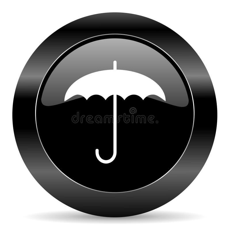 Paraplysymbol vektor illustrationer