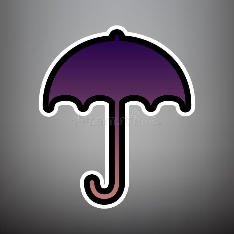 Paraplyteckensymbol Symbol för regnskydd Sänka designstil V stock illustrationer