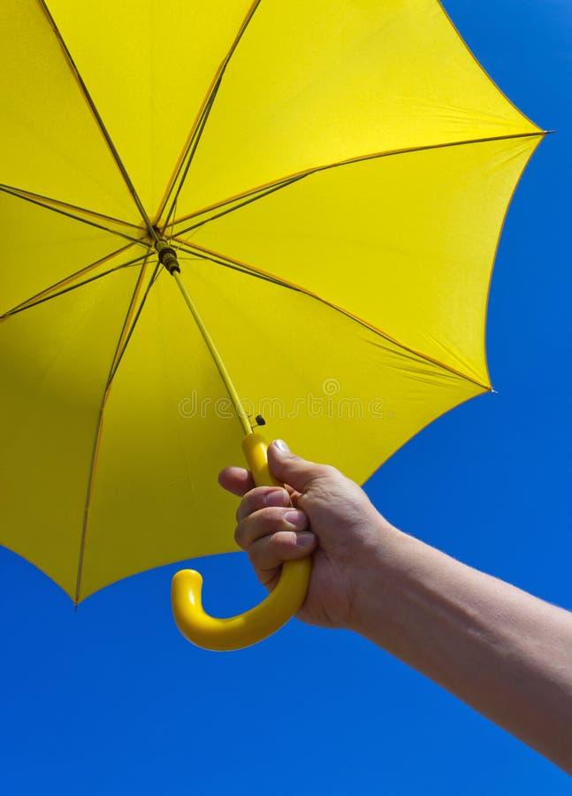 paraplyyellow arkivbild