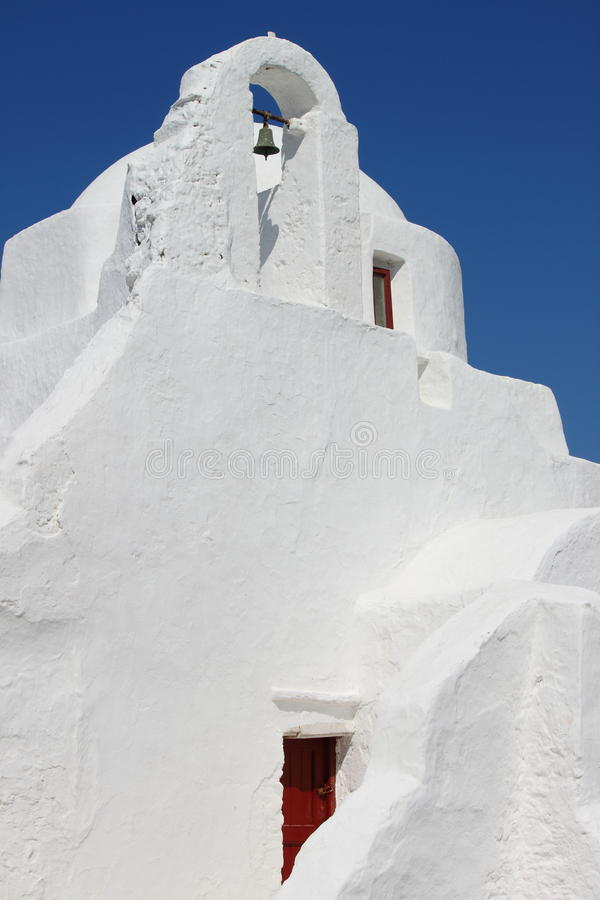 Paraportiani church in Mykonos stock photos