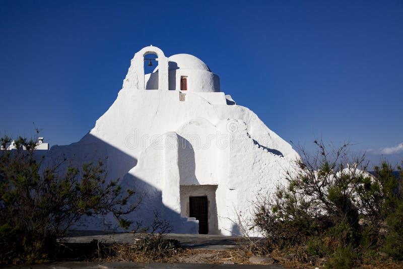 Paraportiani-Kirche des 14. Jahrhunderts auf der Insel von Mykonos, Griechenland stockbild