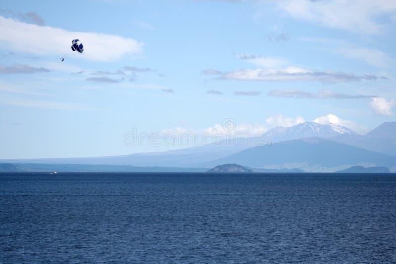 Paraquedas, Nova Zelândia fotografia de stock