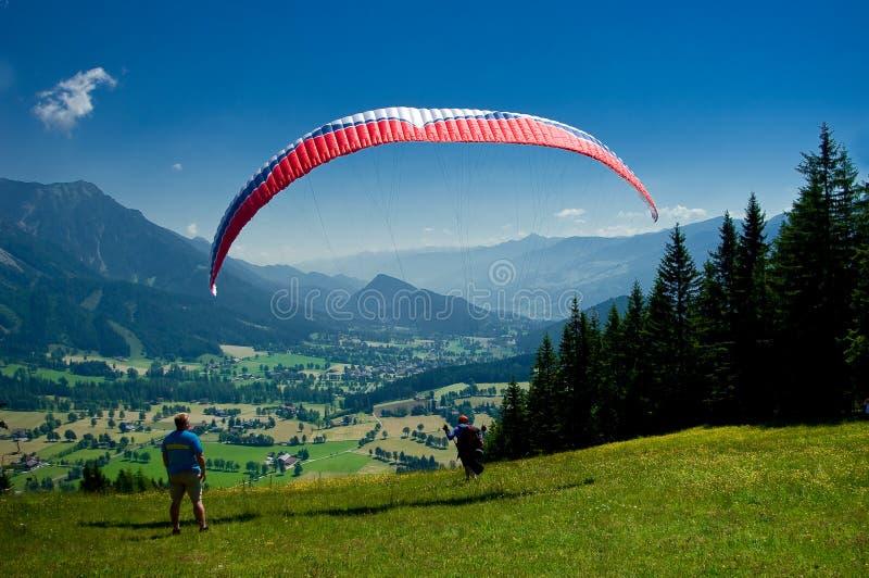 Paraquedas piloto do voo fotografia de stock royalty free