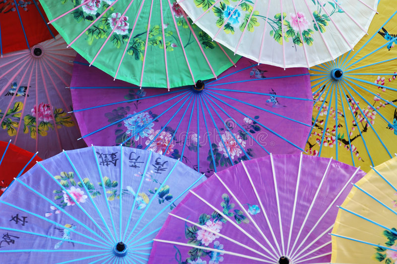 Parasóis chineses foto de stock