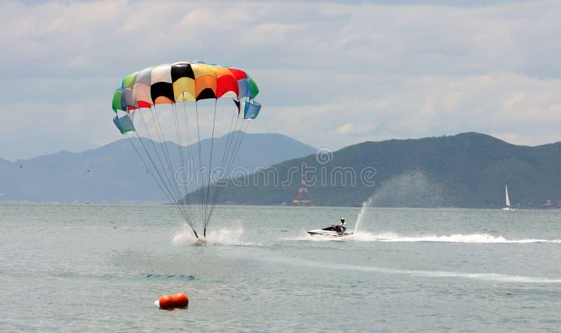 Parasail landing stock images