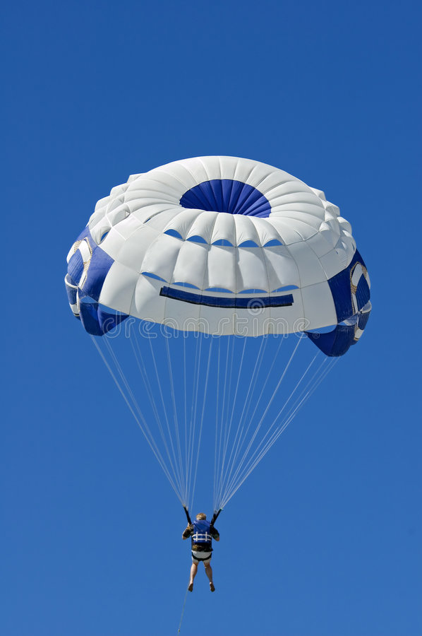 Download Parasailer Against Blue Sky Vertical Royalty Free Stock Photos - Image: 2005648