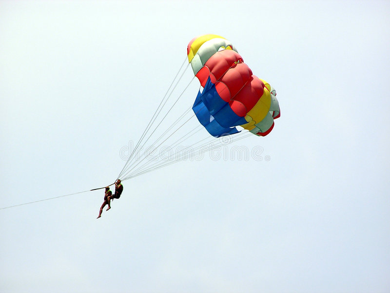 Download Parasailing stock photo. Image of colorfull, woman, sport - 105370