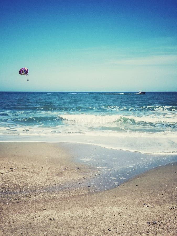 Parasailing along Myrtle Beach stock photos