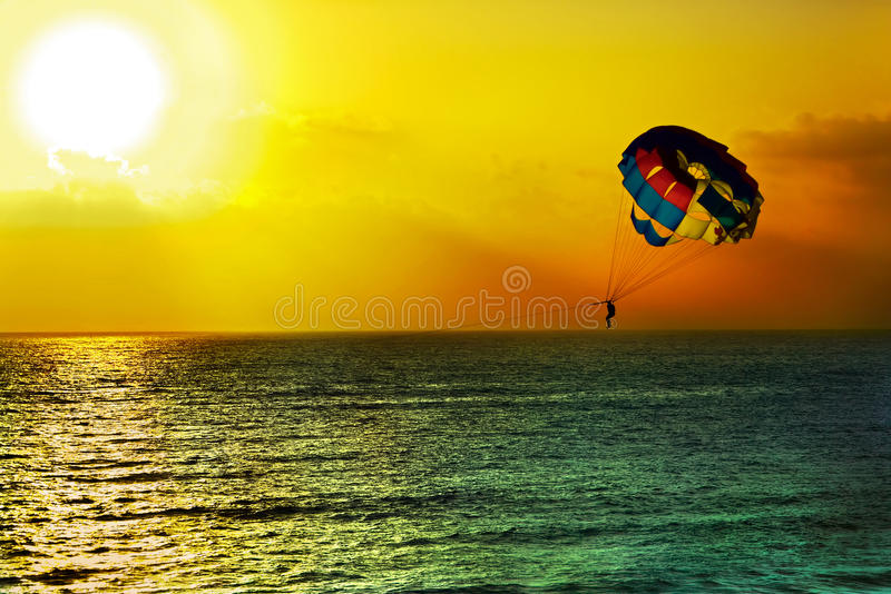 Download Parasailing stock image. Image of sports, silhouette - 53791601