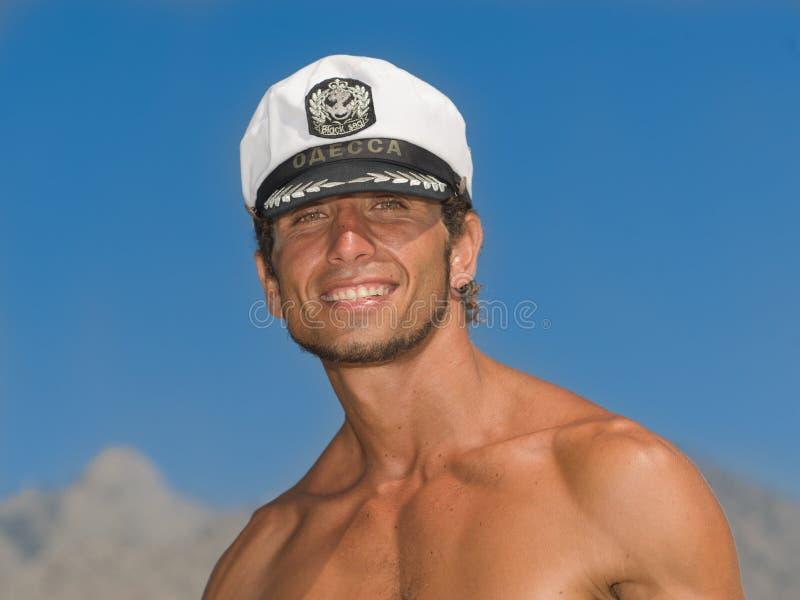 Parasailing captain royalty free stock photo
