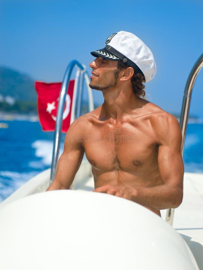 Parasailing captain stock image