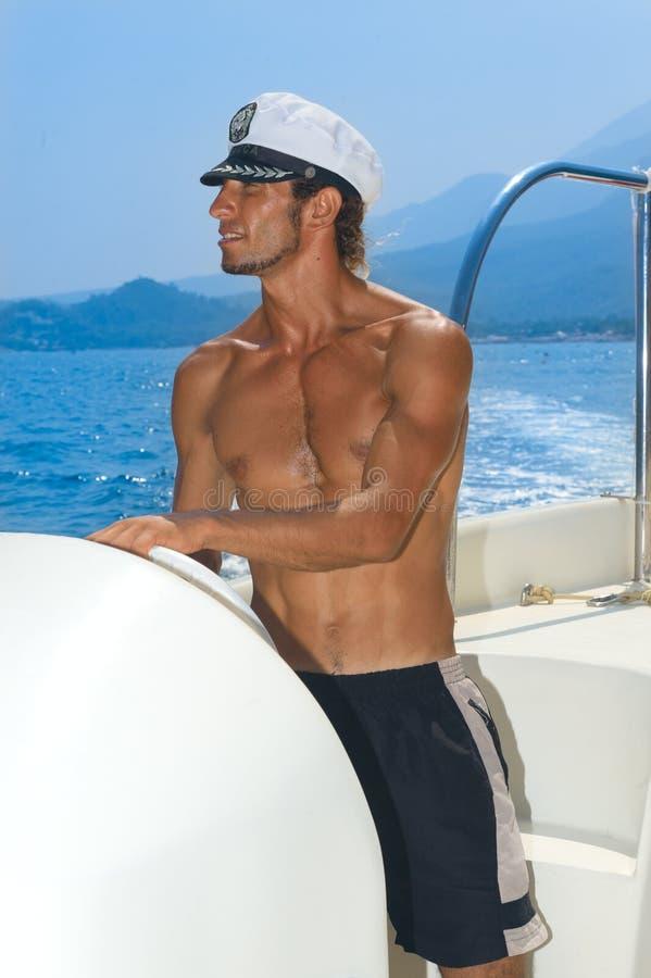 Parasailing captain stock images