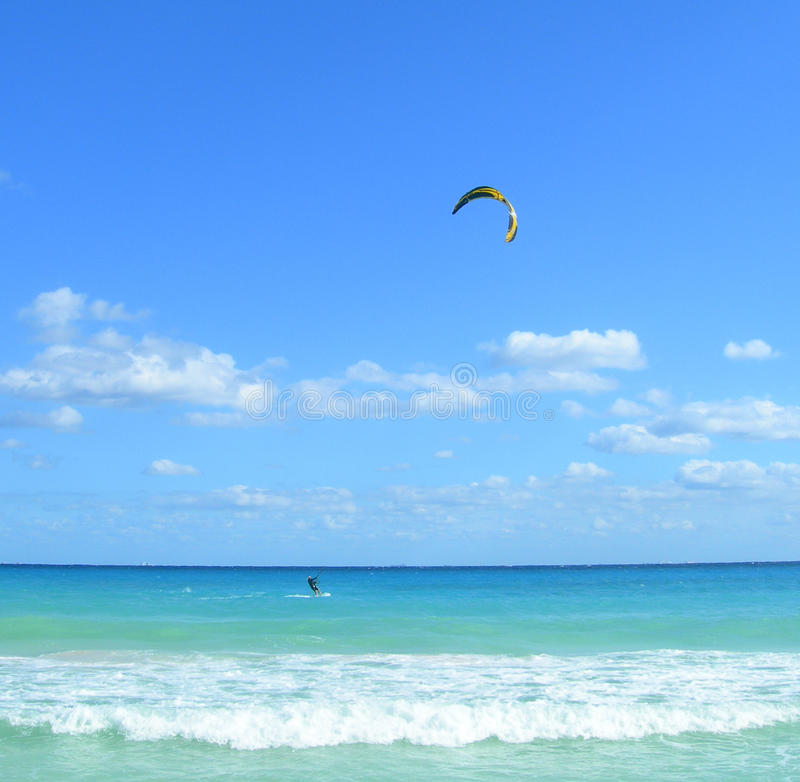 Parasailing in Caribbeans stock foto