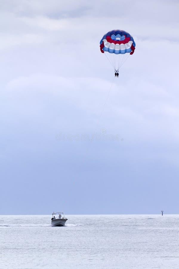 Parasailing in the Florida Keys stock photos