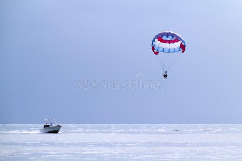 Parasailing in the Florida Keys royalty free stock photo