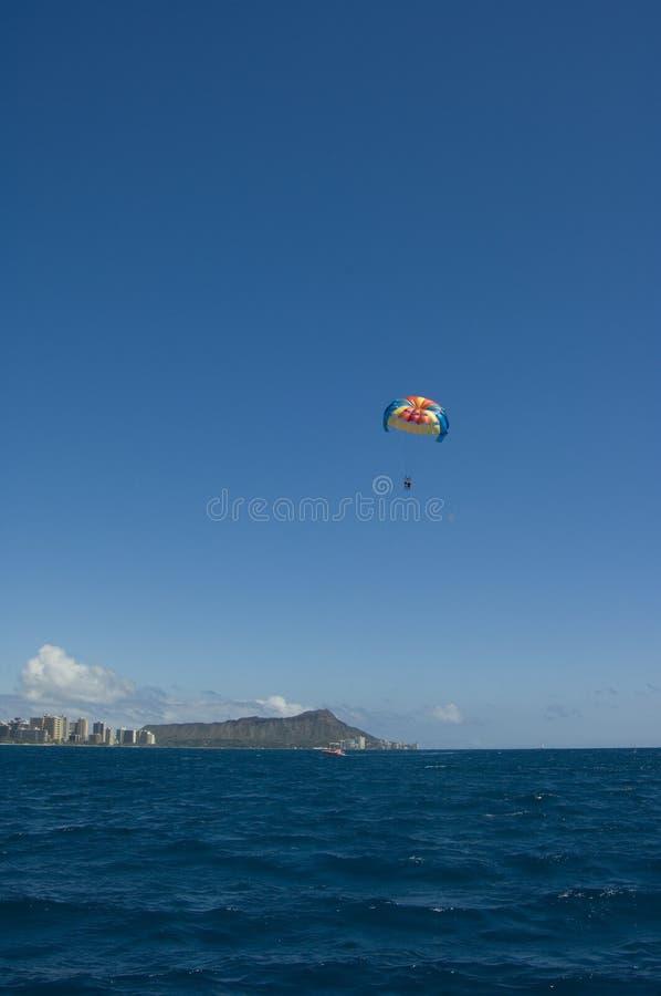 Parasailing Hawaï royalty-vrije stock foto