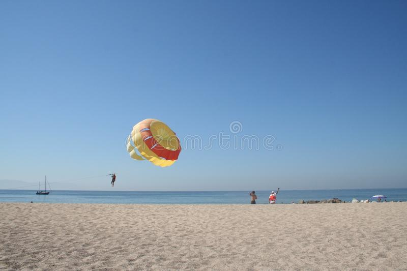 Parasailing In Mexico Royalty Free Stock Photos