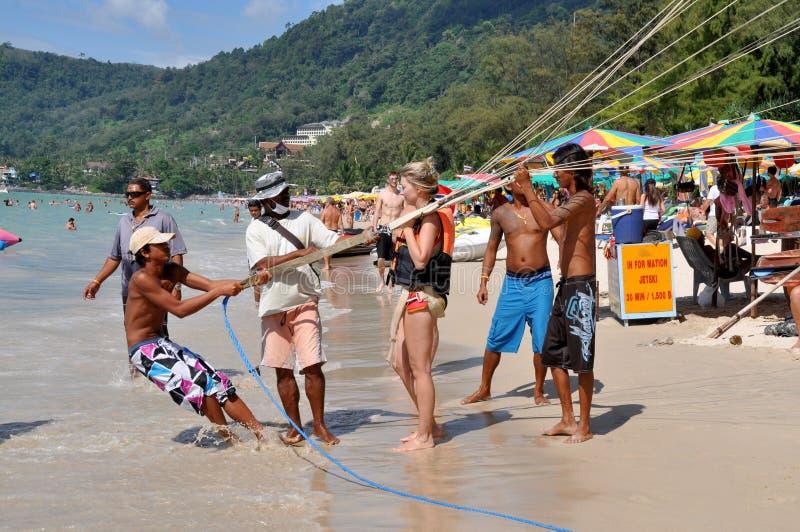 parasailing patong jeździec Thailand obraz royalty free