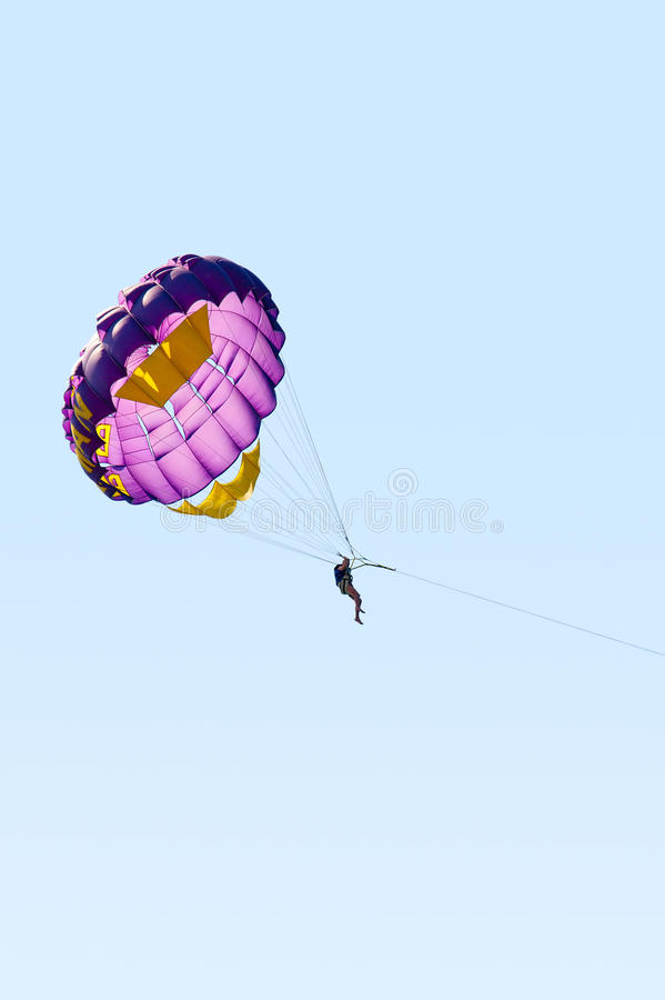 Download Parasailing in the sky stock image. Image of season, tourist - 16854067