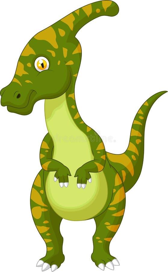 Parasaurolophus动画片 皇族释放例证