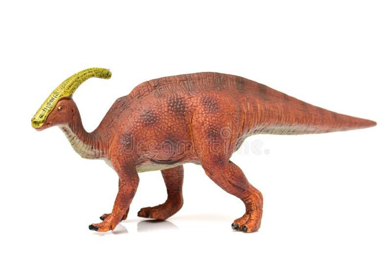 Parasaurolophus恐龙玩具 免版税库存图片