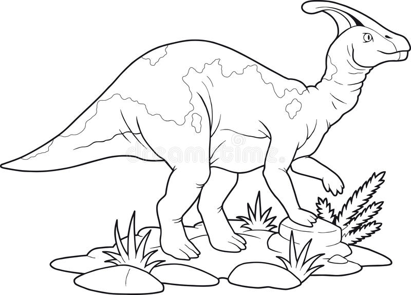 Parasaurolophus иллюстрация штока
