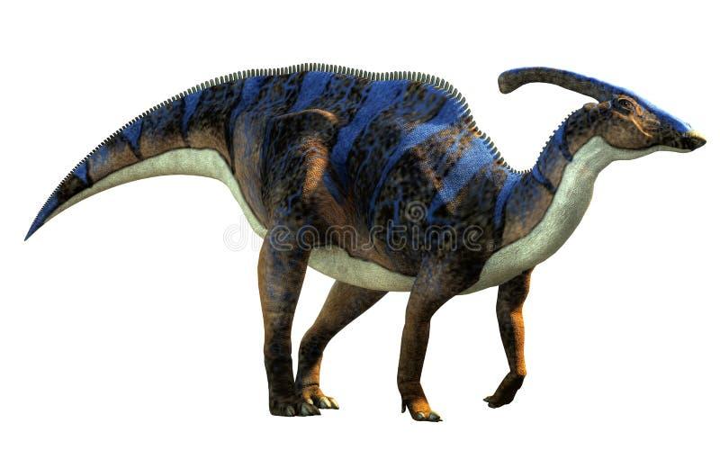 Parasaurolophus Bez tła royalty ilustracja