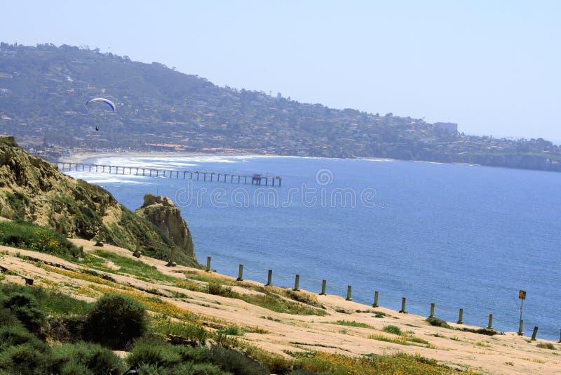 Parashute in La Jolla, CA fotografie stock