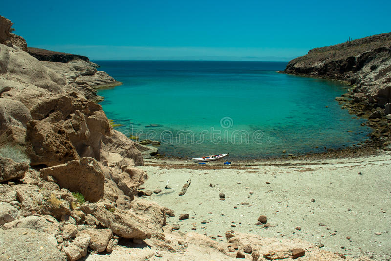 Paraside secret beach Sea of Cortez stock photography