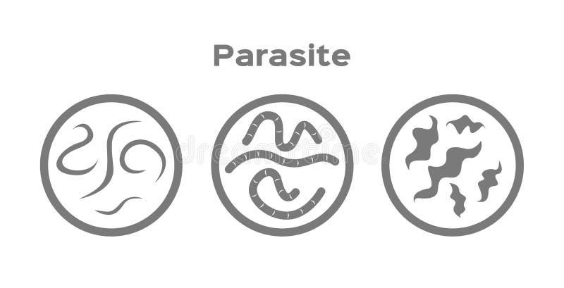 Parasit i mänsklig symbol royaltyfri illustrationer
