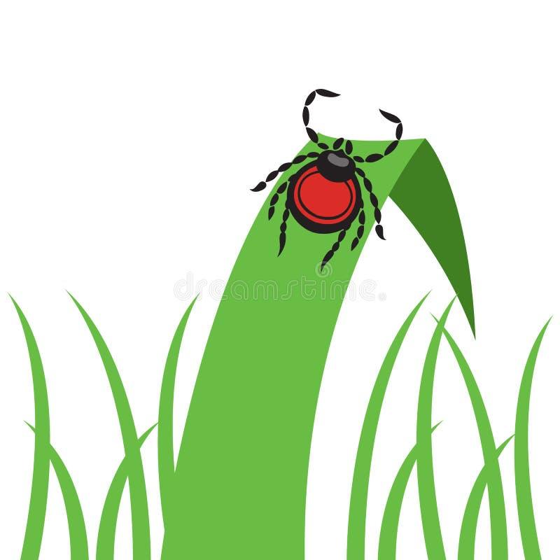 Parasit-Vektorillustration der Milbe gefährliche stock abbildung