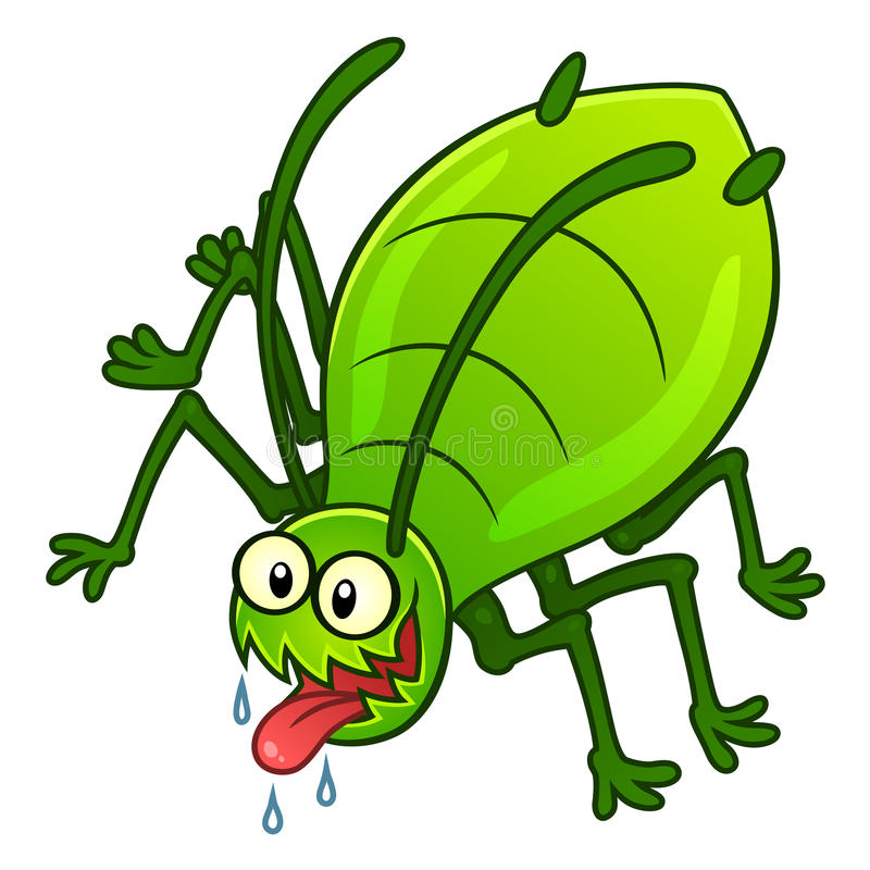 Parasite d'aphis illustration de vecteur