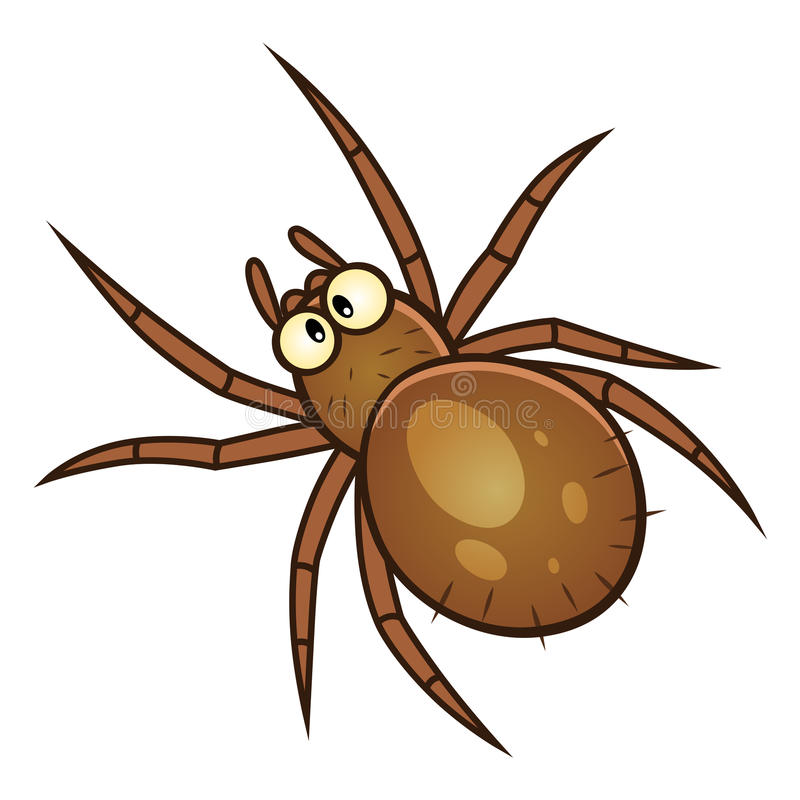 Parasite d'araignée illustration de vecteur
