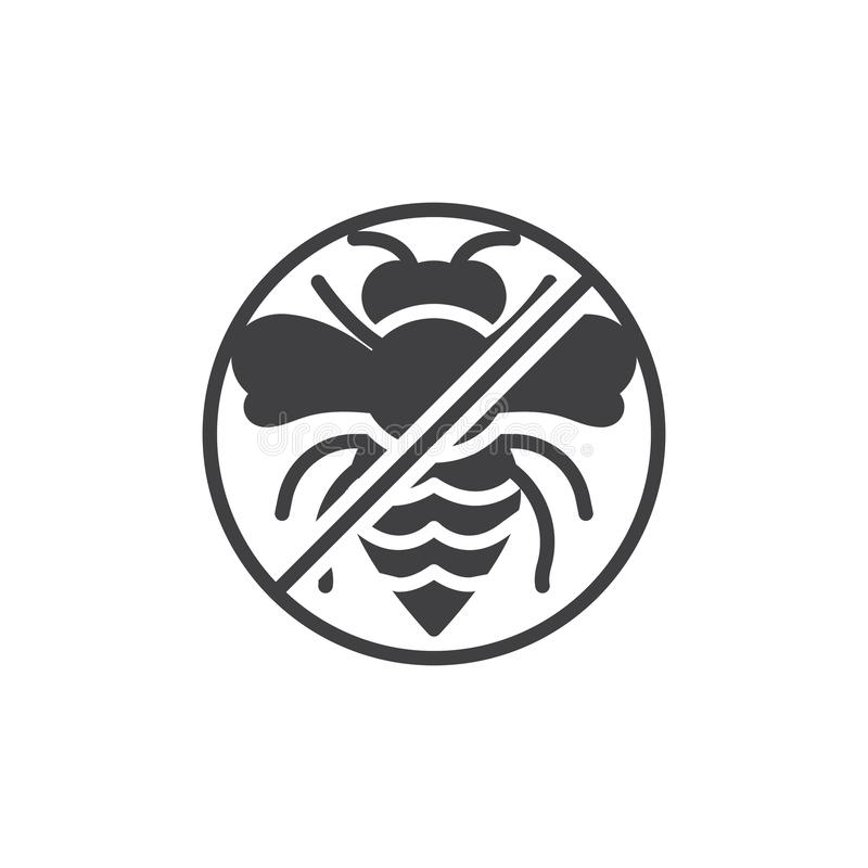 Parasite de guêpe ne dirige pas l'icône illustration libre de droits